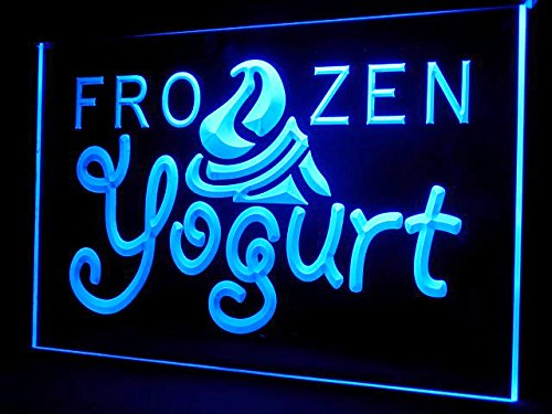 Frozen Yogurt Healthy Food Led Light Sign