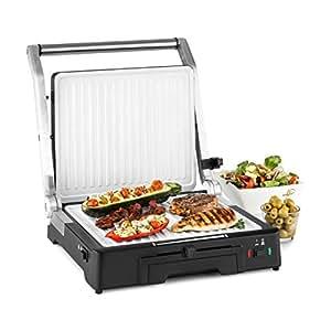 Klarstein Burgermeister 3-in-1 Asador de contacto - Sandwichera , Grill , Paninimaker , Grofera , 2000 W , Asar, tostar y rostizar , hasta 240°C , ...