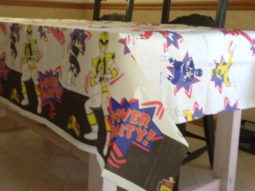 MIGHTY MORPHIN POWER RANGERS Party Decoration Paper Table Cover 54'' x 89 1/2'' (Officially Licensed Dated 1995) by Power Rangers