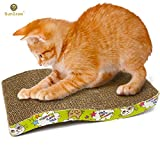 SunGrow SunGrow-1 Scratcher Toy for Cats by - Cat Scratch Board with A Curved Wave Design