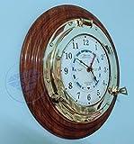 16'' Large Beautiful Time Tide Clock - Ocean Beach Pirate Ship Decor | Nagina International