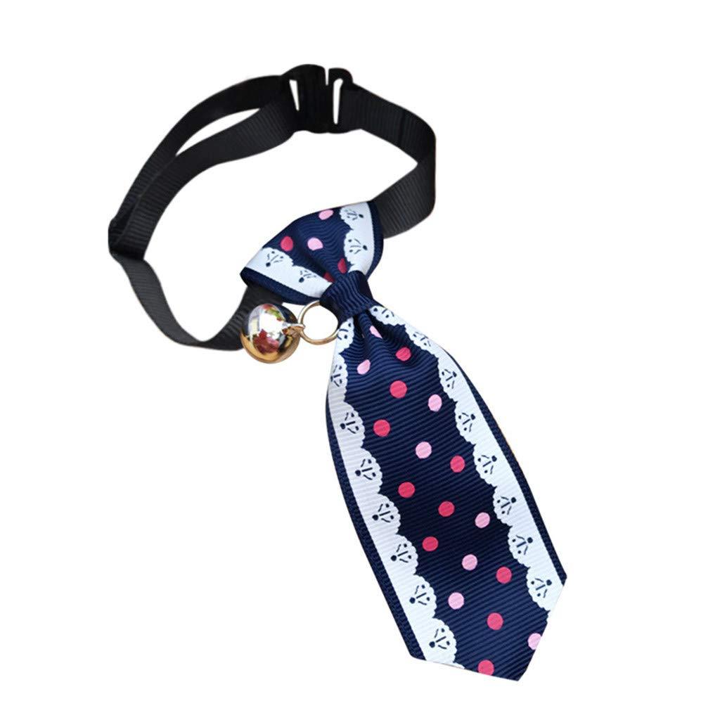 YA-Uzeun Collar de Perro y Gato Ajustable a la Moda con Corbata ...