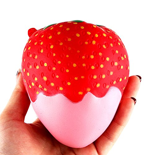 Dolls Clearance , 11.5cm Strawberry Scented Squishy Slow Rising Squeeze Toys Jumbo Collection by Little Story (Pink)