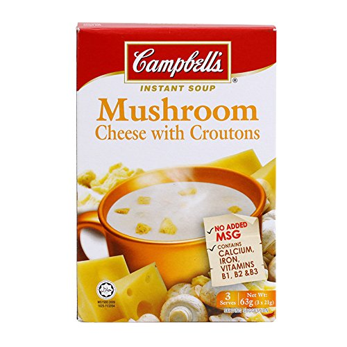 Campbell's, Instant Soup, Mushroom Cheese with Croutons, 63 g (Pack of 2 units) / Beststore by KK