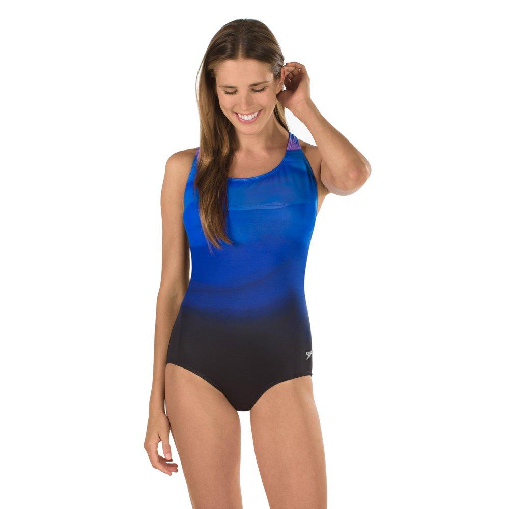 Speedo Color Fusion Ultraback Powerflex Eco One Piece Swimsuit