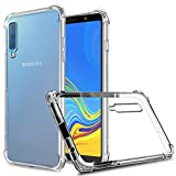 Galaxy A7/A750 (2018) Case, Zeking Slim Thin Anti-Scratch Clear Flexible TPU Silicone with Four Corner Bumper Protective Case Cover Compatible for Samsung Galaxy A7 (2018)(Transparent)