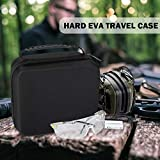 ProCase Hard Carrying Case for Howard Leight Impact Sport OD Electric Earmuff and Genesis Sharp-Shooter Safety Eyewear Glasses -Black