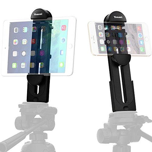 yoassi 2 in 1 ipad tripod mount adapter tablet clamp holder fits ipad ipad air ipad mini. Black Bedroom Furniture Sets. Home Design Ideas