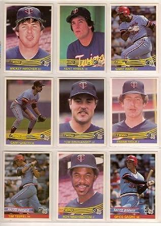 Minnesota Twins 1984 Donruss Baseball Team Set Kent Hrbek Mickey Hatcher