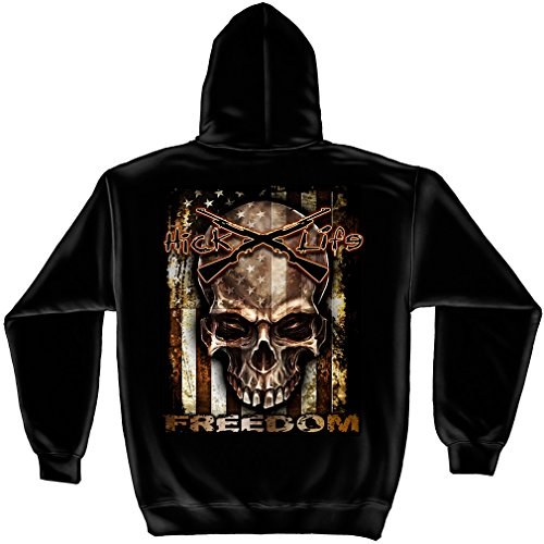 AMERICAN FLAG-FREEDOM HOODED SWEAT SHIRT ()