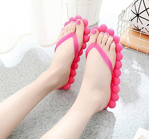Tellw Women Summer Cool Slippers Creative Fashion Massage Slippers Kleur Flat Bottom Vrouwelijke Coole Beach Slippers Rood