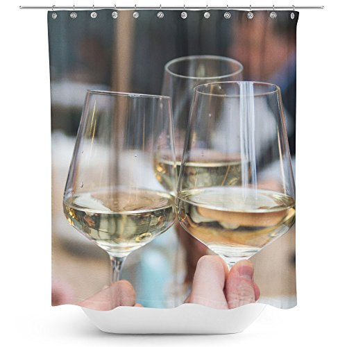 Westlake Art - Wine Alcohol - Fabric Printed Shower Curtain - Picture Photography Waterproof Mildew Resistant Hook Bathroom - Machine Washable 71x74 inch (CDC30)