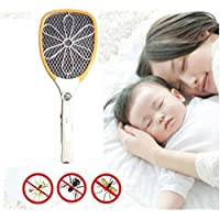 HOLME'S Rechargeable Electric Insect Killer Mosquito Racket for Mosquito & Insect Free Homes (Design and Color May Vary)