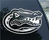 Crawford Graphix NCAA Florida Gators 15'' x 23'' White Head Logo Xtra Large Decal