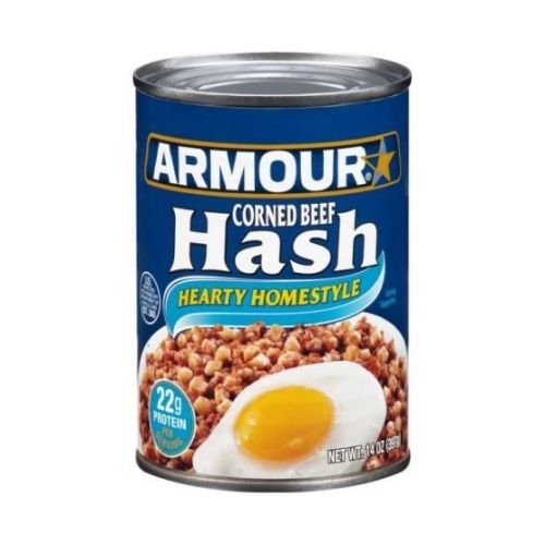 Armour Hearty Homestyle Corned Beef Hash, 14 Ounce -- 12 per case.