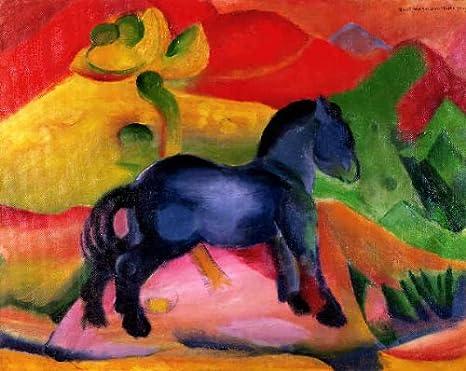 Kunstreproduktion Franz Marc Kleines Blaues Pferd 1912