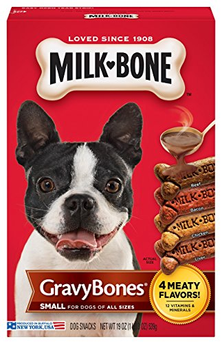 - Milk-Bone GravyBones Dog Treats for Small Dogs, 19-Ounce
