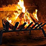 Fireplace Log Grate 24 inch Wide Heavy Duty Solid