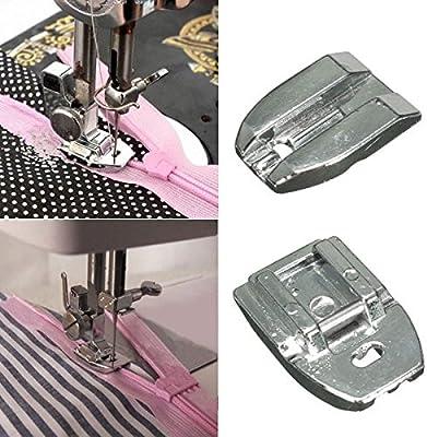 Rosa Lagarto Invisible cremallera prensatelas para máquina de ...