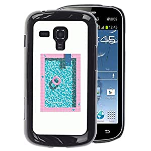 A-type Arte & diseño plástico duro Fundas Cover Cubre Hard Case Cover para Samsung Galaxy S Duos S7562 (Pool Pink Blue Aquamarine Minimalist)