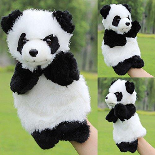 Delight eShop Panda Hand Puppet Baby Kids Plush Doll Educational Toys Preschool Kindergarten