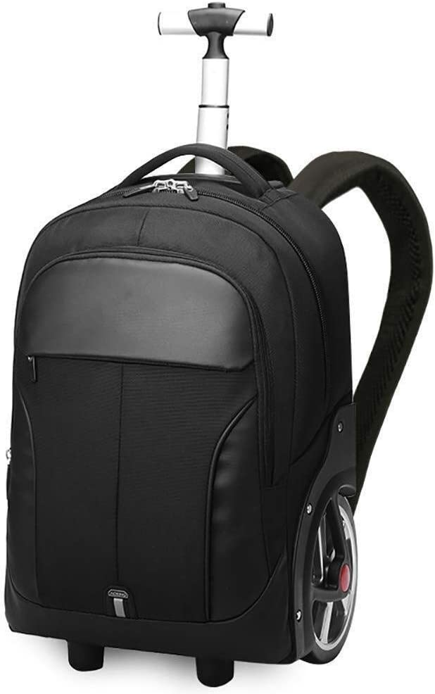 LQRYJDZ Bolso Trolley for Estudiantes, Doble Uso, Escalera for Escalar, Maletas Grandes de Doble Uso Equipaje Unisex Trolley School Bags, sobre 34L (Color : Black)