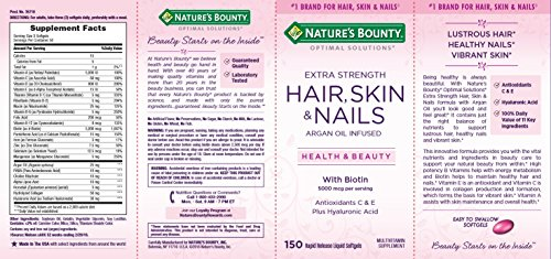 Nature S Bounty Optimal Solutions Hair Skin Amp Nails Extra