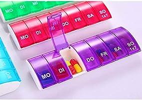 Weiyonghe Organizador semanal para Pastillas, Caja para píldoras de 7 días con diseño Abierto asistido a Muelle único y amplios Compartimentos, Soporte para medicamentos de plástico de 4 Unidades: Amazon.es: Hogar
