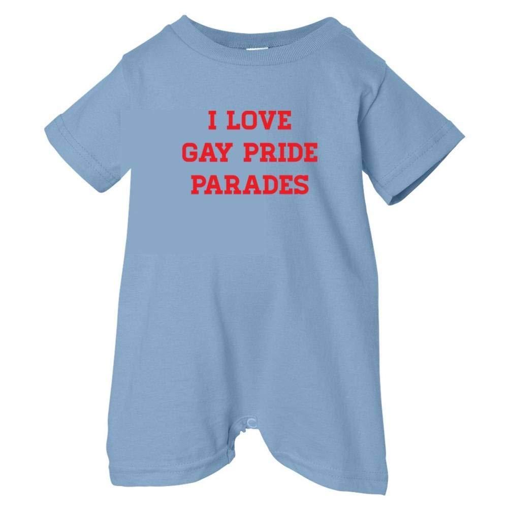 Pride Universe Unisex Baby I Love Gay Pride Parades T-Shirt Romper