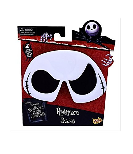 Sun-Staches Disney's Nightmare Before Christmas Jack Skellington Character Sunglasses, Instant Costume, Party Favors, UV400