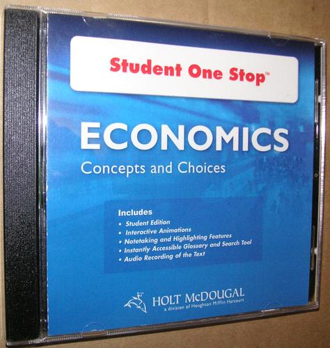 Economics: Concepts and Choices: Student One Stop DVD 2011 pdf epub