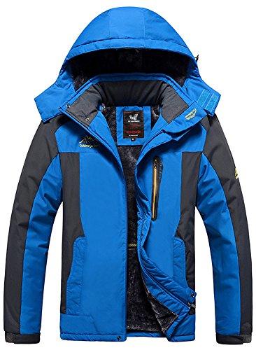 Men's Fleece Sapphire Hunting Mochoose Blue Windbreaker Snow Working Jacket Sportwear Outdoor Hooded Plus Coat Rain Mountain Camping Waterproof Ski Fishing Jacket Size AxXw4dRXq