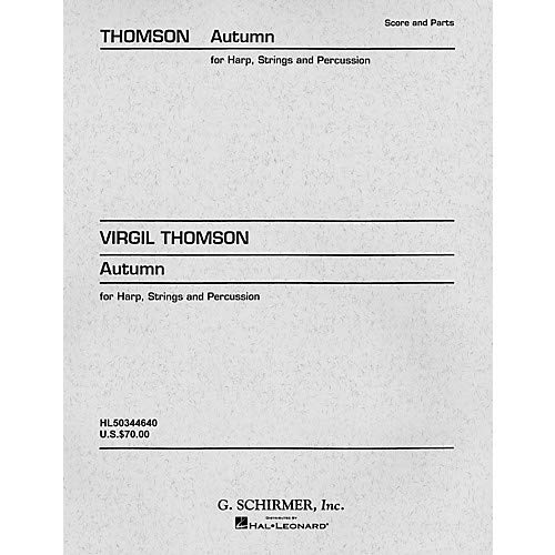 Autumn (Concertino) (Set of Parts) Orchestra Series Composed by Virgil Thomson