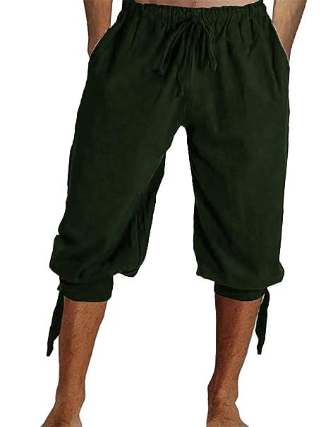 Amazon.com: Tenkilo - Pantalones de pirata medievales para ...