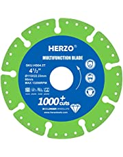 HERZO Disco Para Cortar Madera 115mm, Disco Amoladora Madera para Amoladora