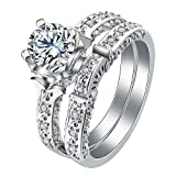 Dorotha Gorgeous Bridal Wedding Ring Set- Ginger Lyne Collection
