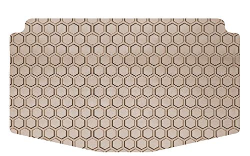 Intro-Tech MB-664-RT-T Hexomat Cargo Area Custom Fit Floor Mat for Select Mercedes-Benz X166 GL-Class Models - Rubber-Like Compound, Small, Tan ()