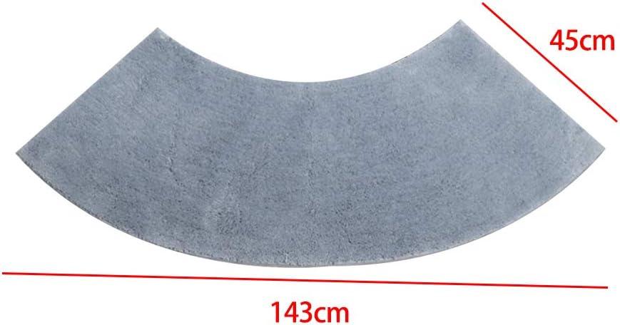 Resistente a la Lavadora Forma de Abanico Almohadillas para los Pies Alfombra de Ducha Curva para Hotel,Gris,143cm*45cm JSIHENA Semicircular Alfombra de Ba/ño Antideslizantes