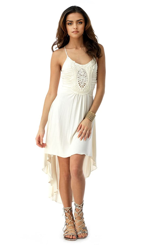 SKY Women's RAHIMAH High Low Dress, Bone