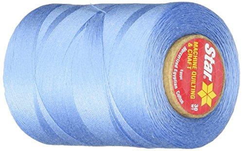 (Star Thread V37-004A 3-Ply 30wt T-35 Cotton Quilting & Craft Thread, 1200 yd, Medium Blue)