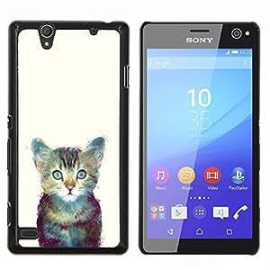 "For Sony Xperia C4 Case , Gatito Espacio lindo gato Pintura Furry"" - Diseño Patrón Teléfono Caso Cubierta Case Bumper Duro Protección Case Cover Funda"