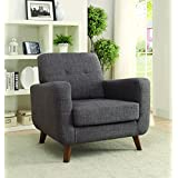 Coaster Transitional Grey Accent Chair