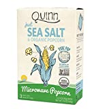 Quinn Snacks Microwave Popcorn – Made with Organic Non-GMO Corn – Great Snack Food for Movie Night – Just Sea Salt, 7 Ounce