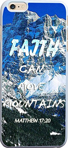Hungo Iphone 6 Plus Case Bible Verses Christian Quotes, Apple Iphone 6 Plus Case Matthew 17:20 Faith Can Move Mountains