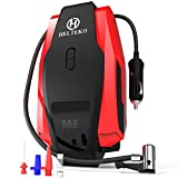 portable air compressor 110v - Portable Air Compressor Pump 150PSI 12V - Digital Tire Inflator - Auto Tire Pump with Emergency Led Lighting and Long Cable for Car - Bicycle - Motorcycle - Basketball and others