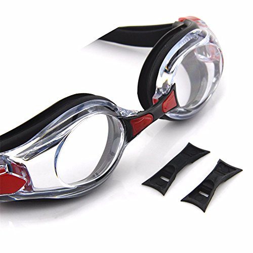 LXKMTYJ La Lumière Plate Transparente Hd Lunettes Imperméables Et Anti-Buée Loisirs Grand Miroir Miroir Mode Lunettes Confortables noir blanc rouge