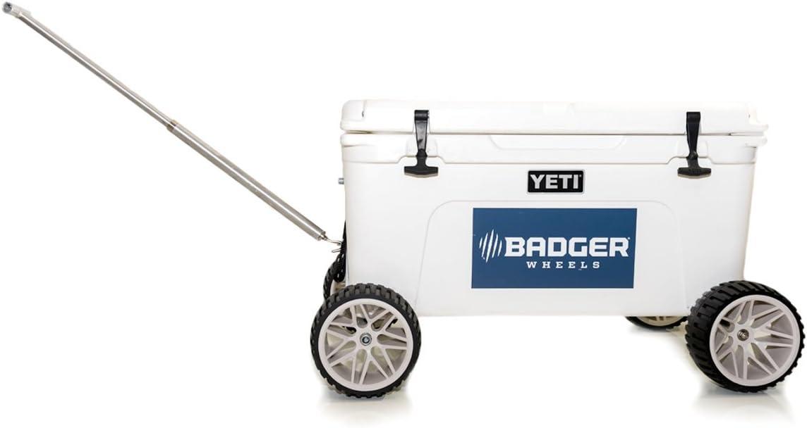 Badger Wheels Large Wheel Original Combo – Two Axles Handle Fits Tundra 35-45-50-65-75-105-110-125-160