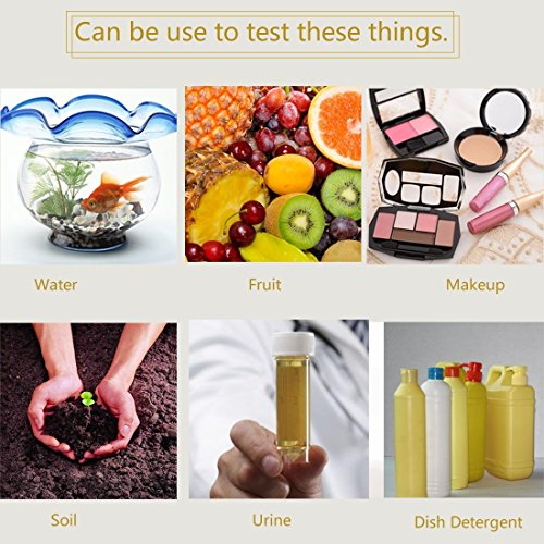 TUANTUAN 10 Packs PH Test Strips PH 1-14 Test Indicator Litmus Paper Strips Tester for Saliva Urine Water Soil Testing (800 Strips) by TUANTUAN (Image #6)