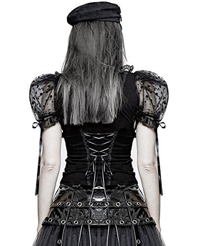 Punk Rave Damen T-Shirt schwarz schwarz