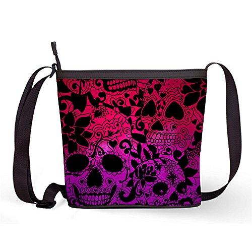 65c1646dedd Fashion Casual and Popular Female Sling Bag Crossbody Bag Shoulder Bag with  Sugar Skull Print